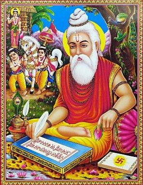 Valmiki schreibt die Ramayana