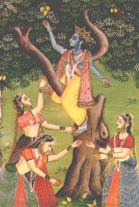 Die Gopis und Krishna