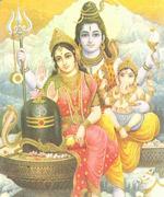 Shiva Parvati und Ganesha