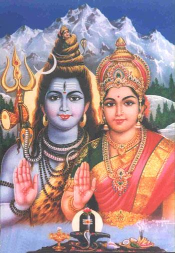 Shiva und Parvati