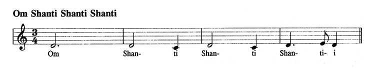 Om Shanti Shanti Shanti Noten