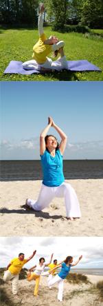 Yoga an der Nordsee: im Garten und am Strand