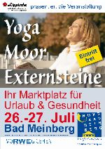 """Aussteller für die Veranstaltung """"Yoga – Moor – Externsteine, Ihr Marktplatz für Urlaub & Gesundheit"""" am 26.-27.07.2014 in Bad Meinberg gesucht"""