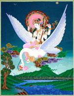 Saraswati auf weissen Schwan