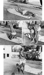 Swamiji praktizierte regelmäßig Asanas...