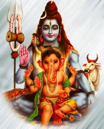Shiva mit Ganesha