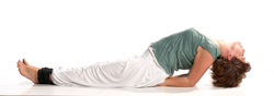 Yoga Übung - Fisch